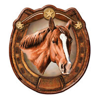 Horseshoe Horse Lover Novelty Sign | Funny Home Décor Garage Wall Gag Gift