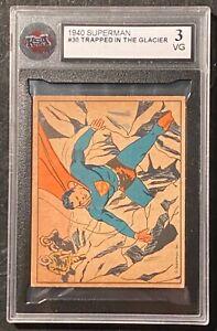1940 Superman #30 Trapped In The Glacier KSA 3 VG !  RARE !