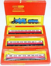 """Triang Hornby OO CALEDONIAN """"BLUE BELLE"""" STEAM LOCOMOTIVE + Full COACH SET MB`68"""