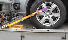 4x Auto Zurrgurt / Autotransport Spanngurt PKW Radsicherung Radverzurrung