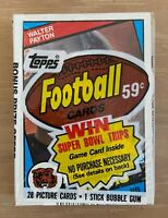 VINTAGE 1984 TOPPS NFL FOOTBALL CELLO PACK - MARINO ELWAY WARNER -WALTER PAYTON