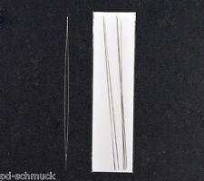 PD: 6 Big Eye Nadel Fädelnadeln Perlennadeln 125x0.6mm