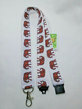 Lanyard lots Elephants on white ribbon safety clip ID badge holder student gift