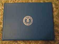 USAF Air Force Certificate Award holder folder with Air Force Emblem on front