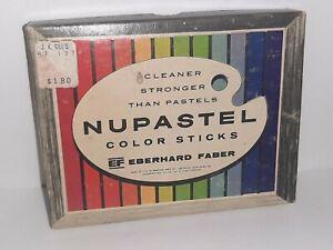 Vintage Eberhand Faber NUPASTEL Pastel Color Sticks x12