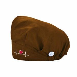 Unisex Surgical Cap Doctor Nurse Baotou Hats Bouffant Sanitary Cotton Polyester