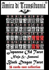 Japanese tarot vintage ninja samurai old anatomy monsters play cards Tarocchi 36