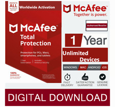 McAfee Total Protection 2020 Unlimited Multi Devices 1 Year instant delivery