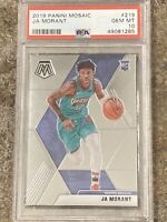 🔥🔥 (LOT) 2019 Panini Mosaic Ja Morant RC ROOKIE PSA 10 GEM MT 🔥🔥ROY