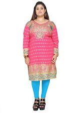 UK STOCK - PLUS SIZE - Women Indian Kurti Tunic Kurta Top Shirt Dress P105B
