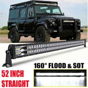 9D 52inch 900W LED Light Bar Flood Spot Combo For LAND ROVER DEFENDER 90 110 130