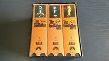 The Godfather Collection Trilogy Movie Set of 6 VHS tapes