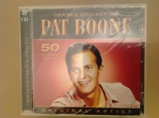 PAT BOONE 2 DISC CD - HEROES COLLECTION - 50 CLASSIC TRACKS  - BRAND NEW & SEALE
