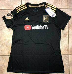 Mens Adidas MLS Los Angeles Football Club LAFC Climalite Soccer Jersey Black NWT