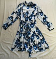 FINERY London Women's Floral Vorley Shirt Dress Size UK 10 Good Used Condition