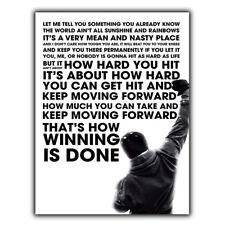 Rocky Balboa citar Arte-Metal SIGN pared placa inspiradoras sabias palabras de impresión