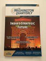 K) New The Washington Quarterly India's Future Summer 2017 Politics Magazine