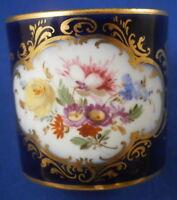 Antique 19thC Meissen Porcelain Child's Cobalt Blue Floral Cup Porzellan Tasse