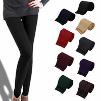 Women Winter Autumn Warm Thick Velvet Leggings High Waist Elastic Trousers Pants