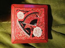 Vintage Decorative Tin with masked ball theme - made in Great Britain - 1950s?