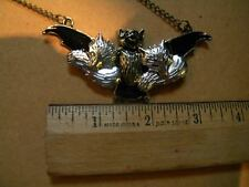 Bats and kittens necklace BAT & FOXES NECKLACE TOTALLY FABULOUS!  FOX & Bat