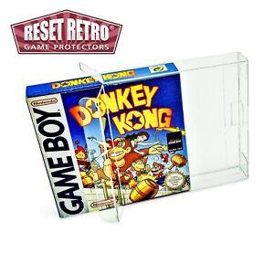 10 x Klarsicht Schutzhüllen für Game Boy Classic Color Advance Virtual Boy OVP
