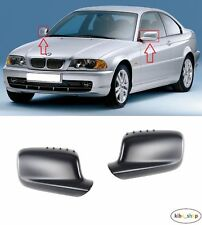 BMW 3 E46 COUPE 1999 - 2006 2X NEW WING MIRROR COVER CAPS PRIMED LEFT + RIGHT