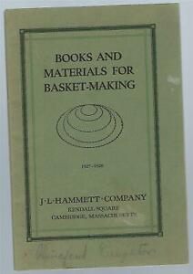Books And Materials For Basket Making 1927 1928 J.L. Hammett Co. SC