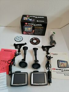 "Lot of 2 Lowrance iWay 250c Automotive GPS Navigation Unit 3.5"" Used."