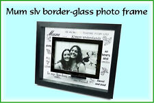 Mum Slv Border - Glass Photo Frame