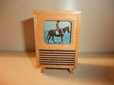 Doll House Shop Accessories TV Television Stand TV Old