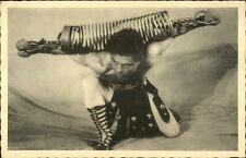 Strong Man Muscles Weight Lifter? Antique Exercise Equipment Old Postcard