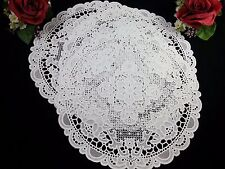 30cm Dining Mat Decoration Placemat White Flower Lace Table Cloths Elegant new