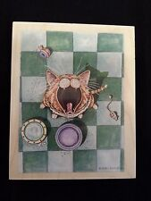 RARE Gary Patterson Stamps Happen FEED ME Rubber Stamp KITTY CAT Wants Food Now!