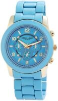 Excellanc Damenuhr XXL Blau Gold Chrono-Look Analog Metall Quarz X150803000010