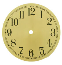 """New 4-1/2"""" to 7-7/8"""" Round Gold Metal Clock Dial with Arabic Numbers"""