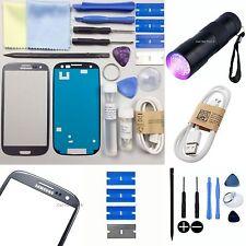 Samsung Galaxy S3 Repuesto Pantalla Vidrio Externo/Lente Kit de reparación titatnium Gris
