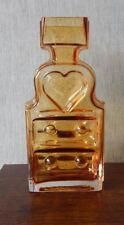 Riihimaki/Riihimaen Lasi Oy Glass Piironki Vase in Amber - Helena Tynell