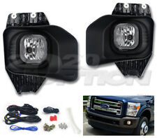 OE STYLE FOG LIGHTS PAIR CLEAR LAMPS SWITCH HARNESS FOR 11-16 F250 F350 F450 SD