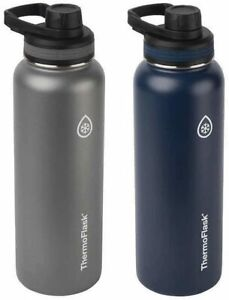ThermoFlask Double Wall Vacuum Insulated Stainless Steel Water Bottles 1.2L Blue