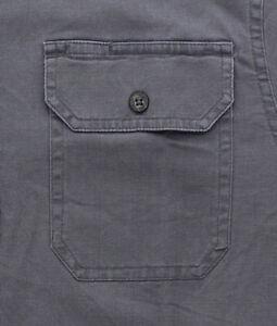 Wrangler Men's Shirt Comfort Flex Short Sleeve Denim Twill Button Up Regular Fit