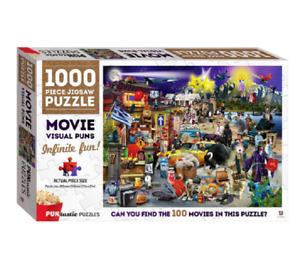 Hinkler PUNtastic MOVIE Visual Puns 1000pc Jigsaw Puzzle - New