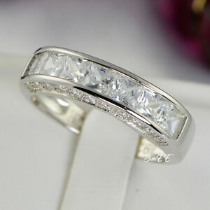 Mens Ring Sterling Silver Wedding Band size 7 to 13.5