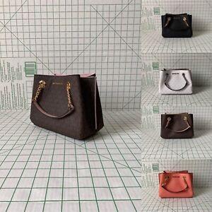 Michael Kors Teagen Small Messenger Signature PVC MK Crossbody Bag