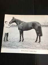 L1-3 Ephemera 1968 Small Picture Horse Racing Mr S H Lee Golden Mean