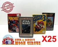 25x NINTENDO NES CIB GAME- CLEAR PLASTIC PROTECTIVE BOX PROTECTOR SLEEVE CASE