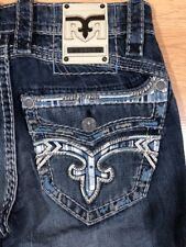 ROCK REVIVAL Jeans 32/33 Mens Ariel Slim Straight NEW!!