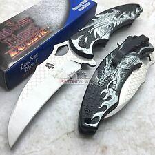 DARK SIDE BLADES Silver Dragon Folding Rescue Pocket Hunting Knife DS-A007SL