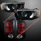 Combo Set Black Headlights Taillights For 02-05 Ram 1500 And 03-05 25003500