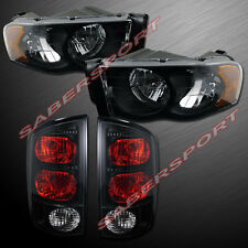 Come Set Black Headlights + Taillights for 02-05 Ram 1500 and 03-05 2500/3500